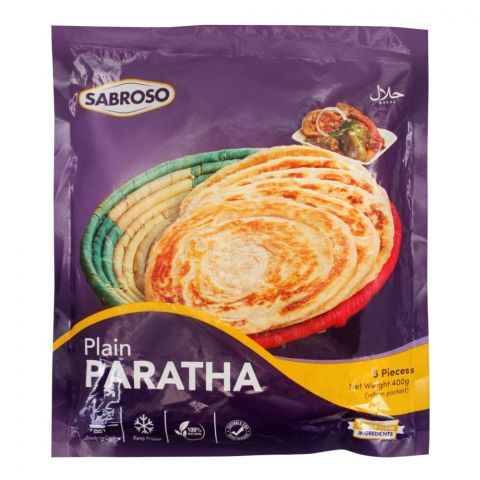 Sabroso Plain Paratha, 5 Pieces, 400g
