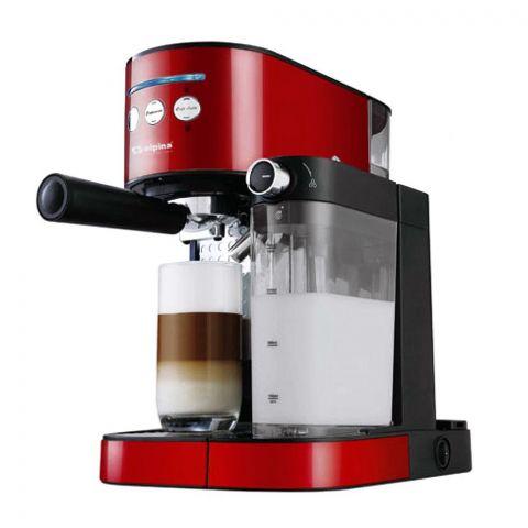 Alpina Coffee Espresso Machine, Red/Black, SF-2822