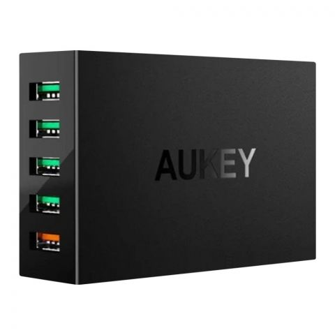 Aukey 5-Port USB Charging Station, Black, PAT15