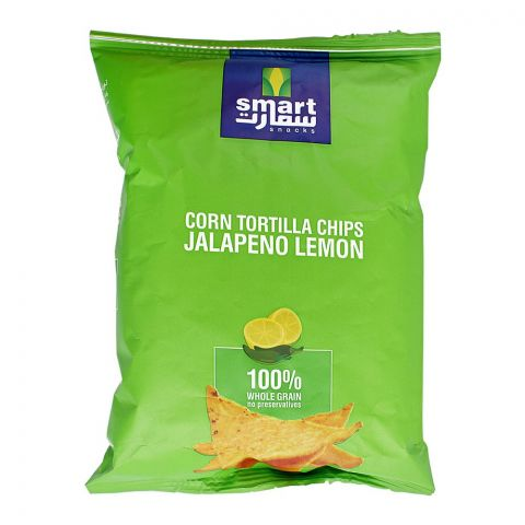 Smart Snacks Corn Tortilla Chips, Jalapeno Lemon, 80g
