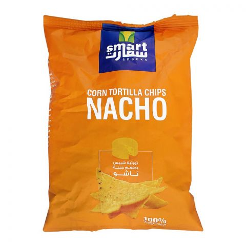Smart Snacks Corn Tortilla Chips, Nacho, 80g