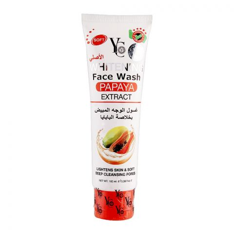 YC Whitening Papaya Extract Face Wash, 100ml