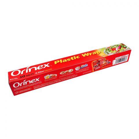 Orinex Plastic Wrap, 50SQFT, 15m x 30cm, Food Grade