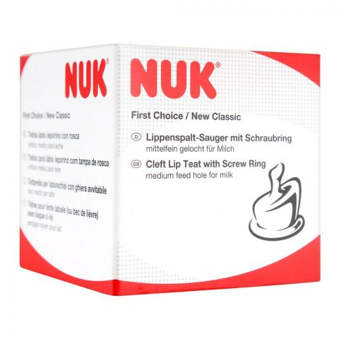 Nuk First Choice Cleft Lip Teat With Screw Ring, 10107046