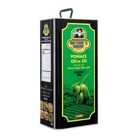 Nature's Own Pomace Olive Oil, Blended With Extra Virgin Olive Oil, Tin, 4 Liters