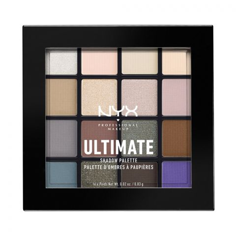 NYX Ultimate Eyeshadow Palette, 02 Cool Neutrals