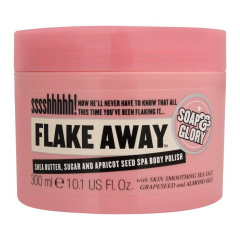 Soap & Glory Flake Away Shea Butter, Sugar And Apricot Seed Spa Body Polish, 300ml