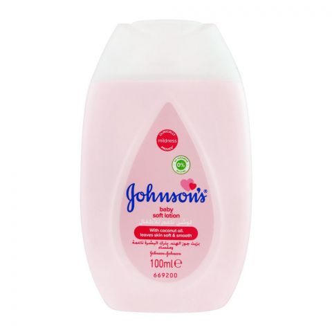 Johnson's Soft Baby Lotion, With Coconut Oil, Imported, 100ml