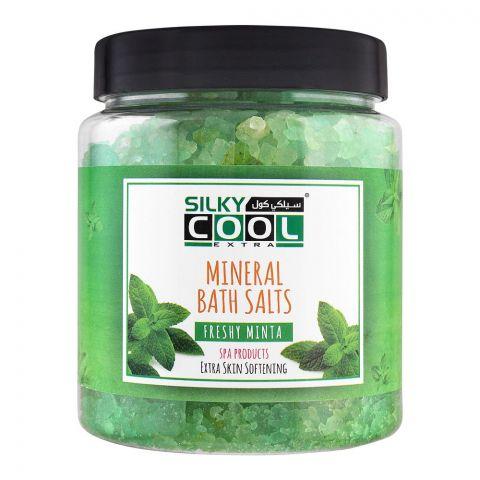 Silky Cool Extra Mineral Bath Salts, Freshy Minta, 750g