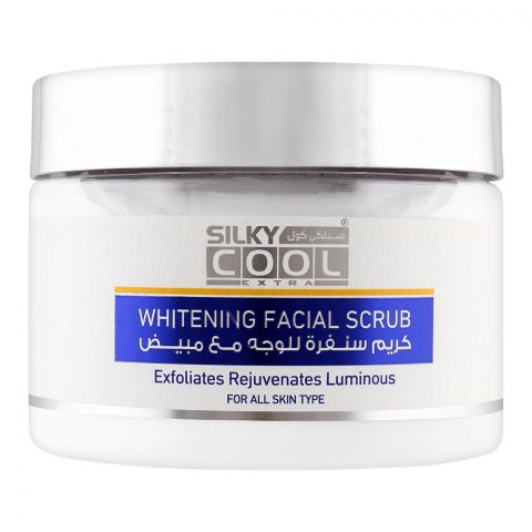 Silky Cool Extra Whitening Facial Scrub, All Skin Types, 350ml