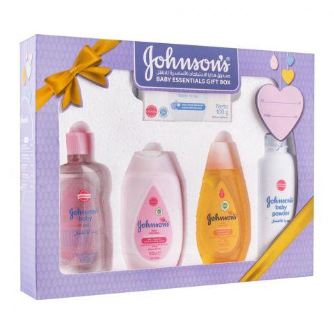 Johnson's Baby Essentials Baby Gift Set, 5 Pieces