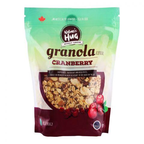 Nature's Hug Granola Cereal, Cranberry, 330g