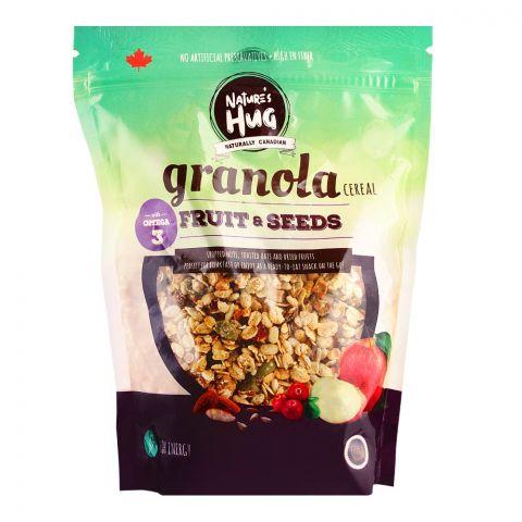 Nature's Hug Granola Cereal, Fruit & Seeds, 330g