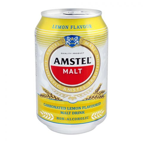 Amstel Malt, Lemon Flavor, Non-Alcoholic, 300ml, Can