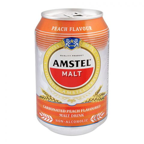 Amstel Malt, Peach Flavor, Non-Alcoholic, 300ml, Can