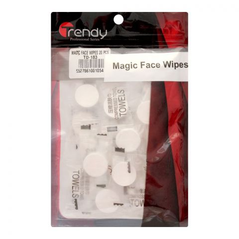 Trendy Magic Face Wipes, 20 Pieces, TD-183