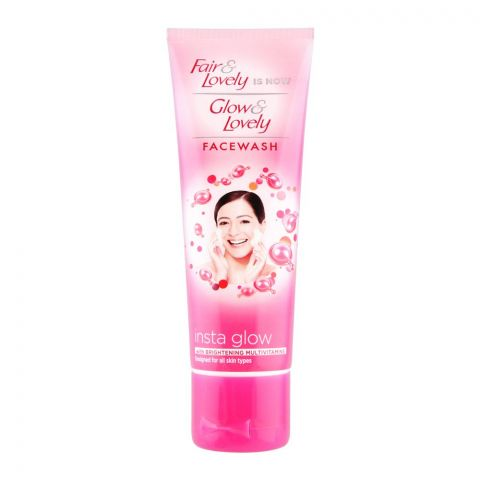 Fair & Lovely Is Now Glow & Lovely Insta Glow Face Wash, 80g