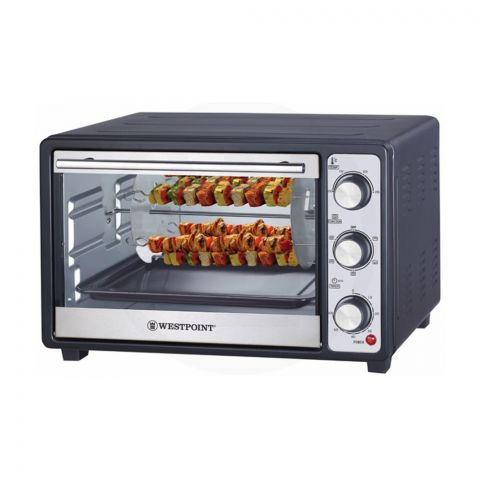 West Point Deluxe Rotisserie Oven With Kabab Grill, 30 Liters, WF-2800RK