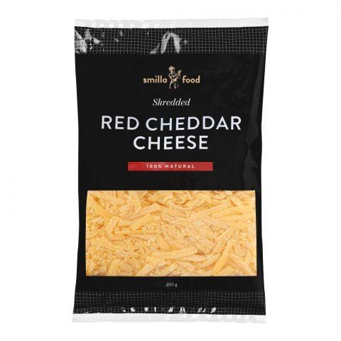 Smilla Food Red Cheddar Cheese, Shredded, 200g