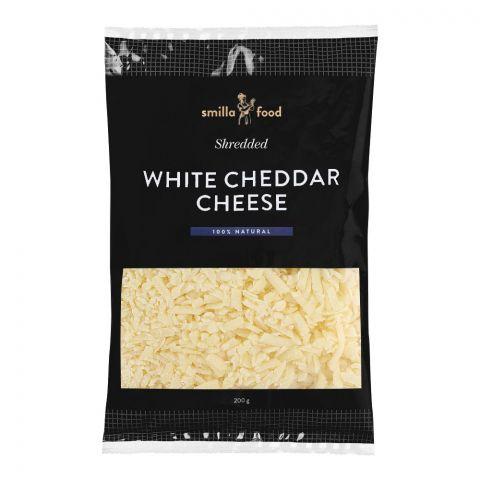 Smilla Food White Cheddar Cheese, Shredded, 200g