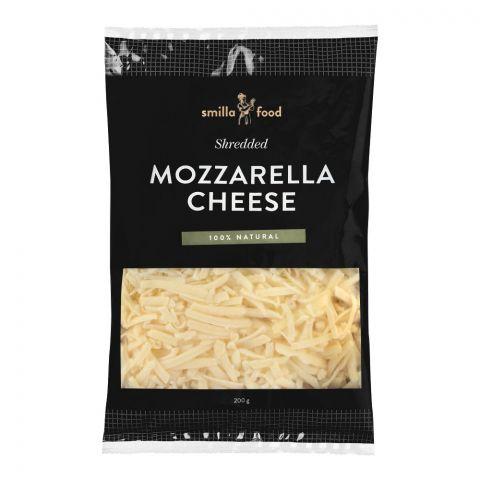 Smilla Food Mozzarella Cheese, Shredded, 200g