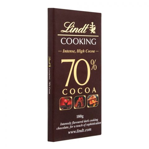 Lindt Cooking 70% Cocoa Chocolate, 180g