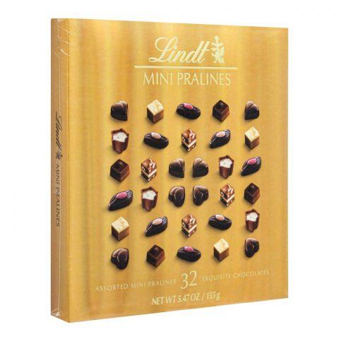 Lindt Mini Pralines Chocolate, Gold, 155g