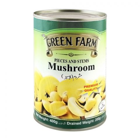 Green Farm Pieces And Stems Mushroom, 400g