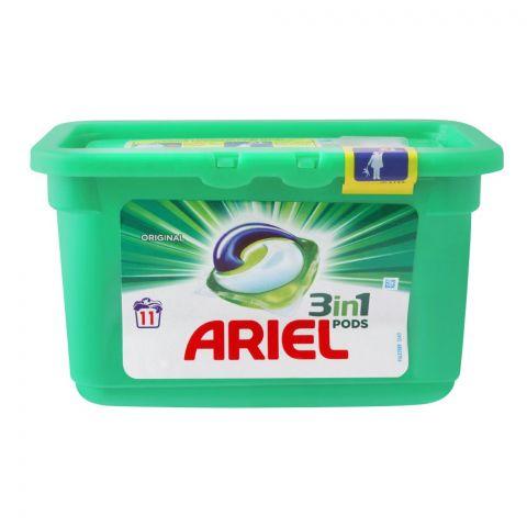 Ariel 3-In-1 Liquid Pods, Original, 11x27, Washing Capsules, 297g