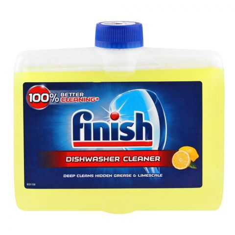 Finish Liquid Dishwasher Cleaner, Lemon, 250ml