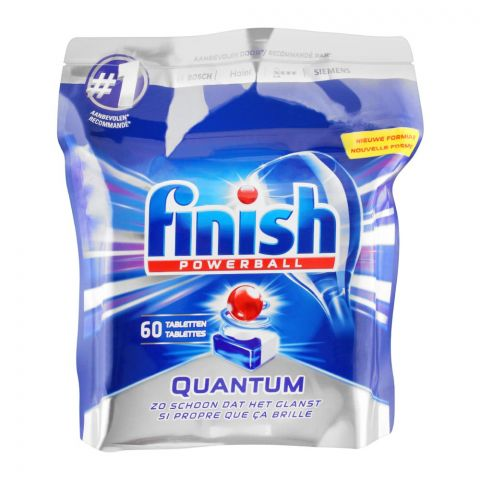 Finish Power Ball Quantum Dishwasher Tablets, 60-Pack
