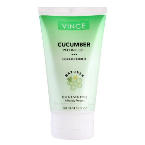 Vince Cucumber Extract Peeling Gel, All Skin Types, 120ml