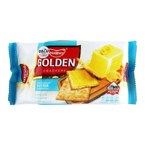 Monesco Golden Coated Crackers, Butter Cream Flavor, 120g