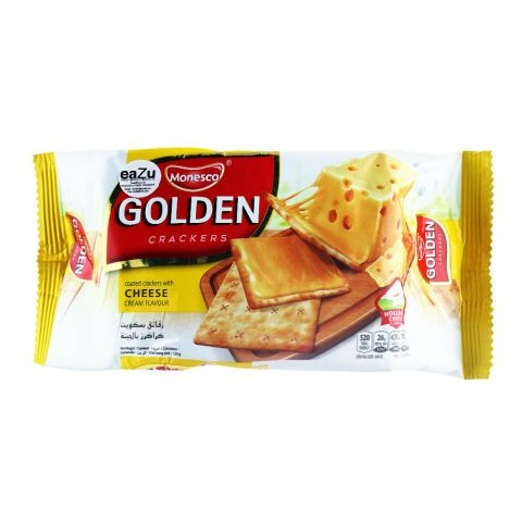 Monesco Golden Coated Crackers, Cheese Cream Flavor, 120g