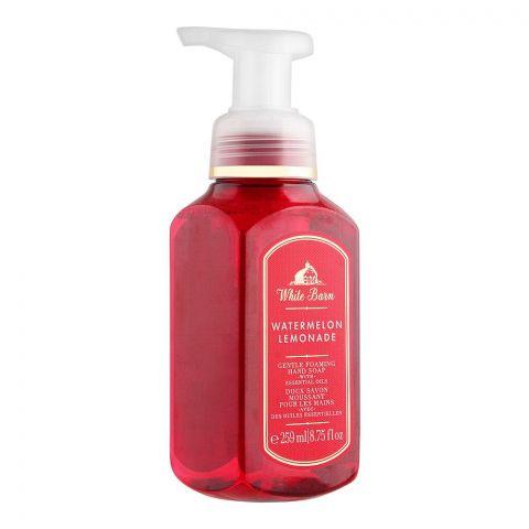 Bath & Body Works White Barn Watermelon Lemonade Gentle Foaming Hand Soap, 259ml