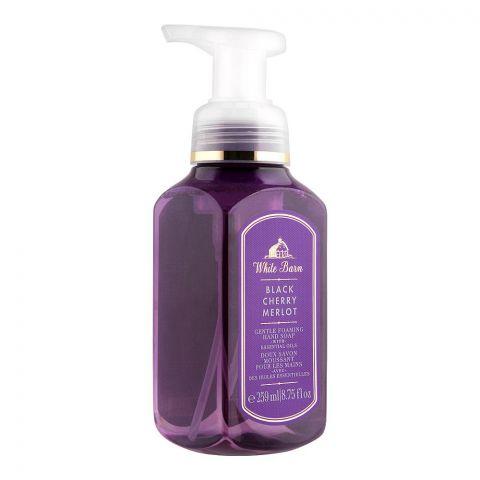 Bath & Body Works White Barn Black Cherry Merlot Gentle Foaming Hand Soap, 259ml