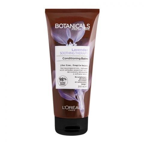 L'Oreal Paris Botanicals Fresh Care Lavender Soothing Therapy Conditioning Balm, For Fine & Fragile Hair, 200ml