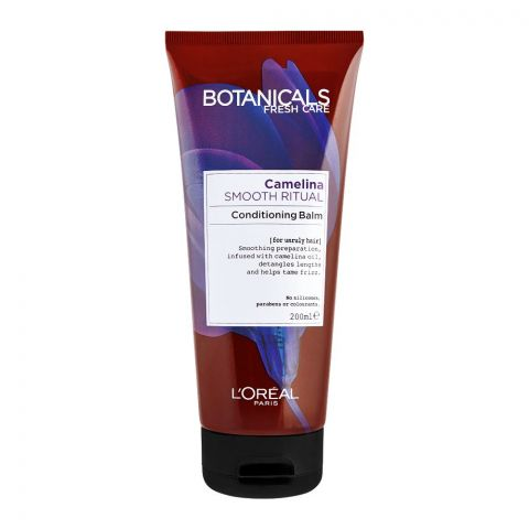 L'Oreal Paris Botanicals Fresh Care Camelina Smooth Ritual Conditioning Balm, For Unruly Hair, 200ml