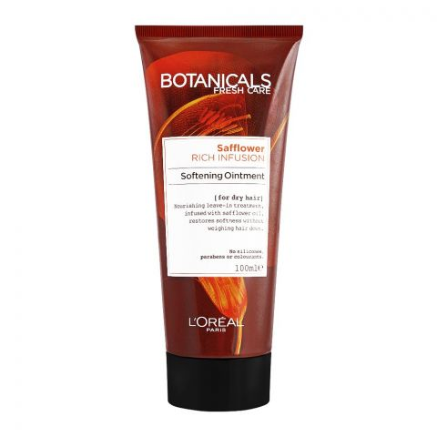 L'Oreal Paris Botanicals Fresh Care Safflower Rich Infusion Softening Ointment, For Dry Hair, 100ml