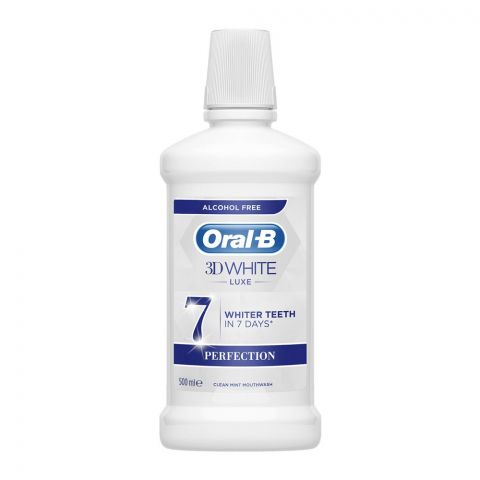 Oral-B 3D White Luxe 7 Perfection Clean Mint Mouthwash, 5000ml