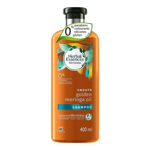 Herbal Essences Bio Renew Smooth Golden Moringa Oil Shampoo, Paraben Free, 400ml