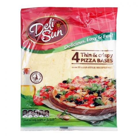 Deli Sun Tortilla Thin & Crispy Pizza Base, 4-Pack, 320g
