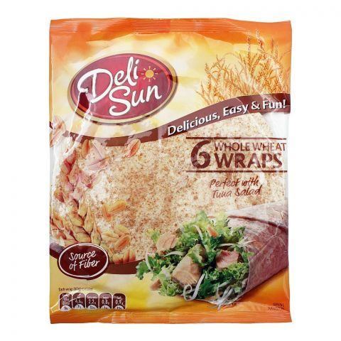 Deli Sun Whole Wheat Wraps, 6-Pack, 360g