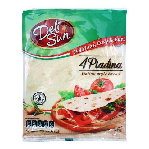 Deli Sun Tortilla Piadina Italian Style Bread Wraps, 4-Pack, 320g