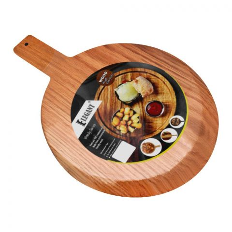 Elegant Curved Wood Pizza Board, 9.5 Inches, EH0090