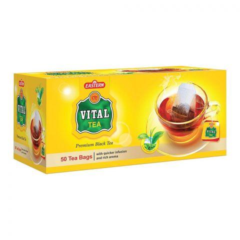 Vital Premium Black Tea Bags, 50-Pack