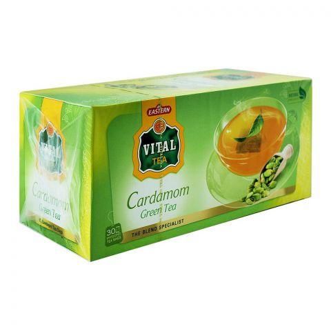 Vital Enveloped Cardamom Green Tea Bags, 30-Pack