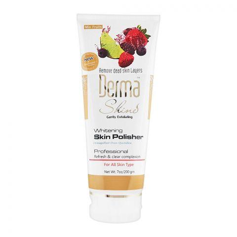 Derma Shine Gently Exfoliating Mix Fruits Whitening Skin Polisher, For All Skin Types, 200g