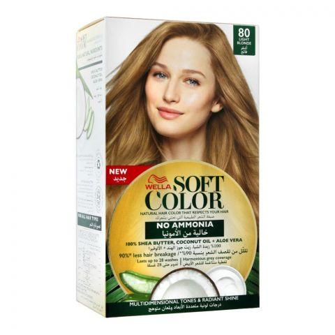 Wella Soft Color No Ammonia Hair Color, 80 Light Blonde