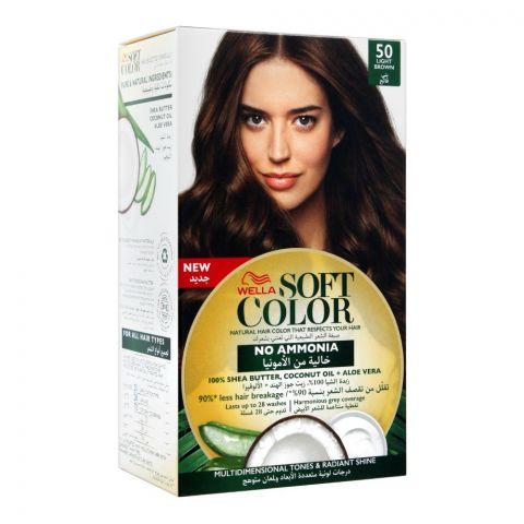 Wella Soft Color No Ammonia Hair Color, 50 Light Brown